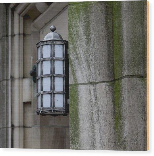Church Lamp Wood Print