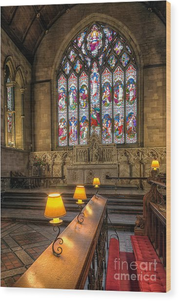 Church Lamps V2 Wood Print