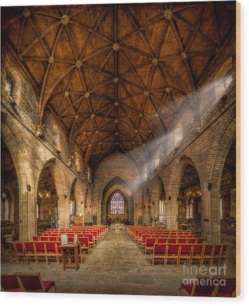 Church Light Wood Print