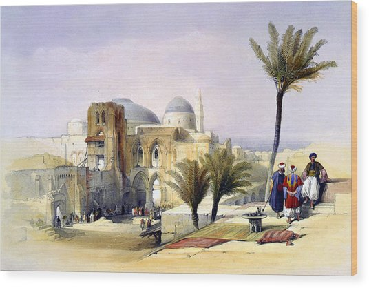 Church Of The Holy Sepulchre In Jerusalem Wood Print