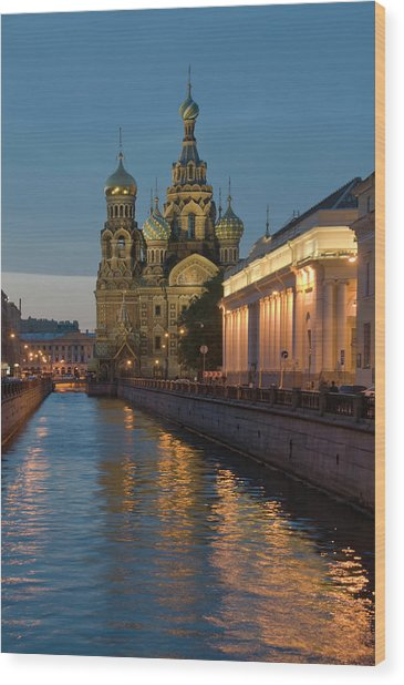 Church Of The Saviour On Spilled Blood Wood Print