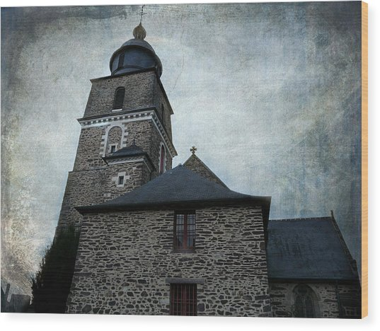 Church Saint Malo Wood Print