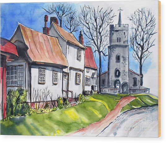 Church Street Wood Print