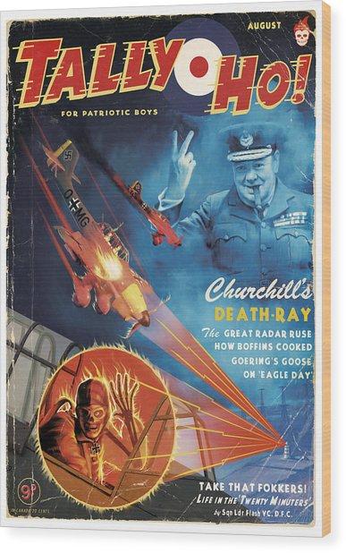 Churchill's Death Ray Wood Print by Alex Tomlinson