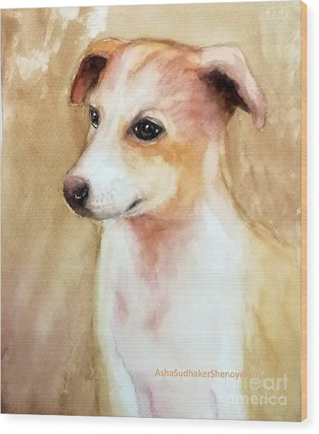 Chutki The Pet Dog Wood Print