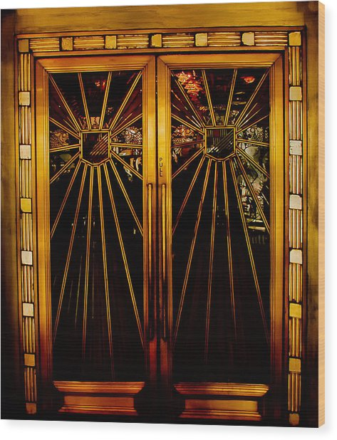 Cicada Club Doors Wood Print
