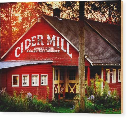 Cider Mill Wood Print