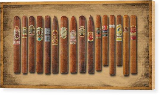 Cigar Sampler Painting Wood Print