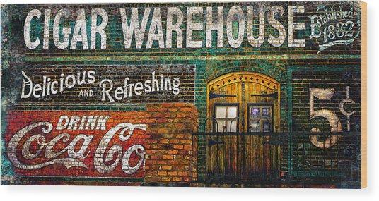 Cigar Warehouse Wood Print