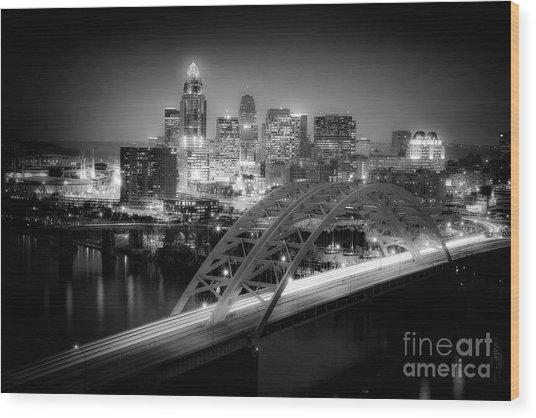 Cincinnati A New Perspective Wood Print by Kimberly Nickoson