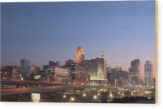 Cincinnati In Morning Twilight Wood Print