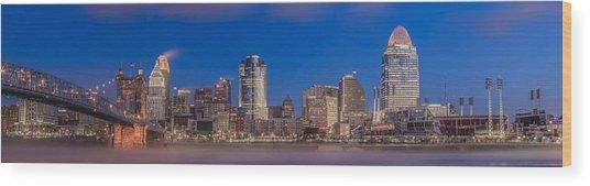 Cincinnati Morning Twilight Wood Print