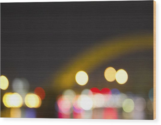 Cincinnati Night Lights Wood Print