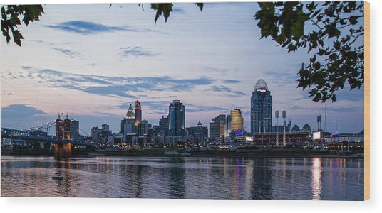 Cincinnati Skyline Wood Print
