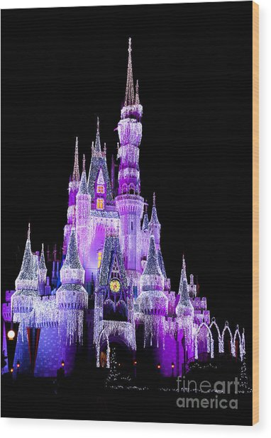 Cinderella's Castle Wood Print