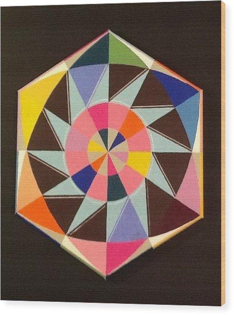 Circle Dance Wood Print