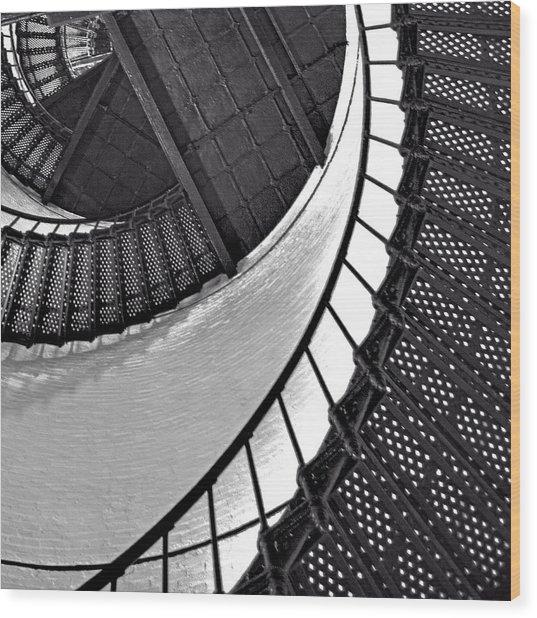 Circle In Square Wood Print