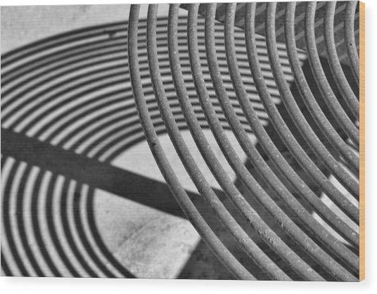 Circles And Shadows 1 Wood Print