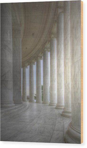 Circular Colonnade Of The Thomas Jefferson Memorial Wood Print