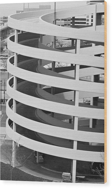 Circular Parking Place Wood Print by Devinder Sangha