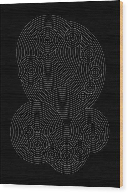 Circular Sunday Inverse Wood Print