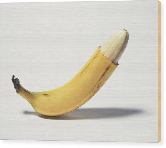 Circumcised Banana Wood Print by Stuartpitkin