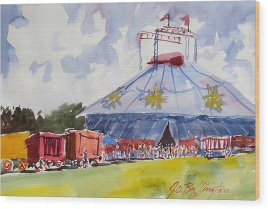Circus Hall Of Fame Wood Print