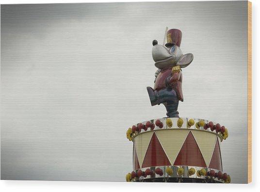 Circus Mouse Wood Print