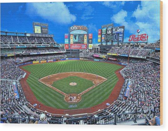 Citi Field - Home Of The N Y Mets Wood Print