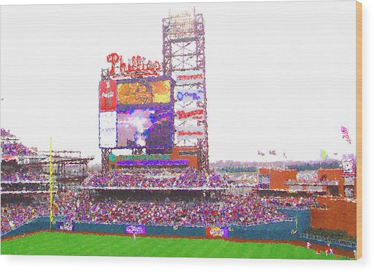 Citizen's Bank Park Wood Print by Barbara Hammond