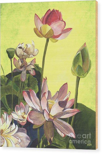 Citron Lotus 1 Wood Print