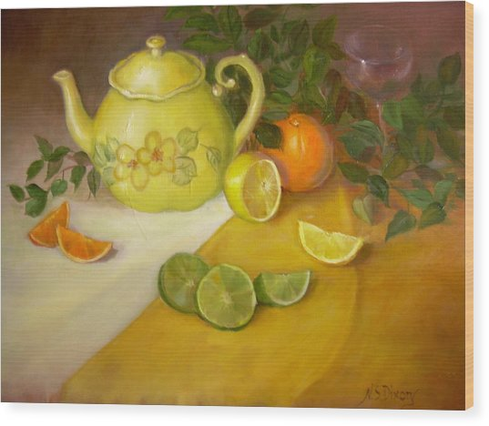 Citrus N Tea Wood Print