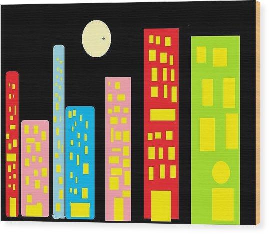 City 23 Wood Print
