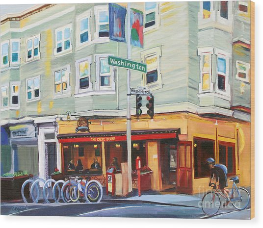 City Bike At Polk And Washington Wood Print by Colleen Proppe