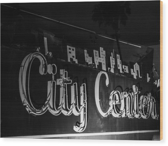City Center Wood Print