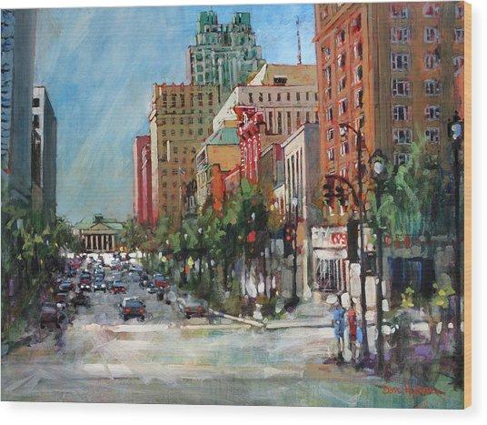 City Color Wood Print
