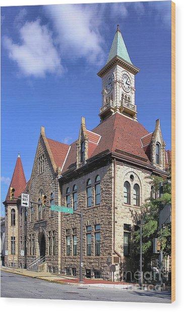 City Hall - Johnstown Pa Wood Print