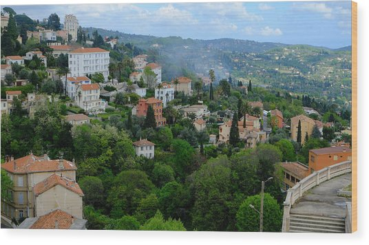 City Hills Of Grasse France Wood Print