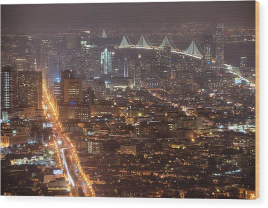 City Lava Wood Print