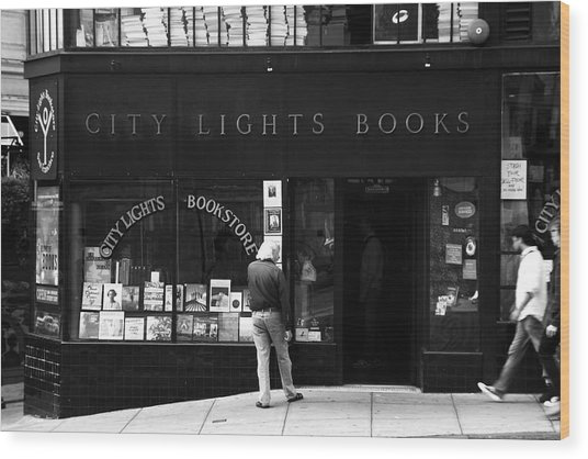 City Lights Bookstore - San Francisco Wood Print