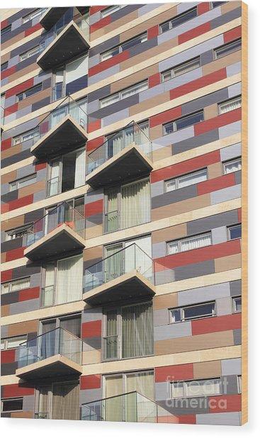 City Living Wood Print