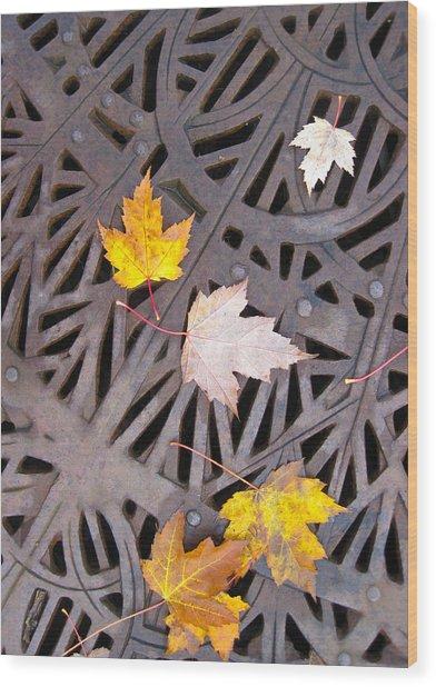 City Meets Nature Wood Print