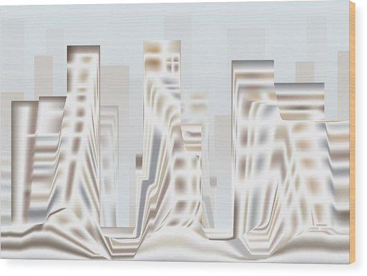 City Mesa 2 Wood Print