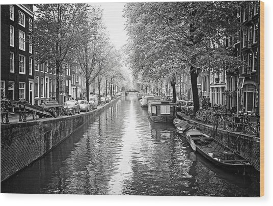 City Of Canals Wood Print