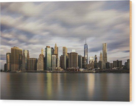 City Of Light Wood Print