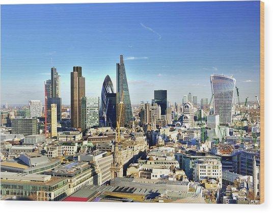 City Of London Skyline Wood Print by Vladimir Zakharov