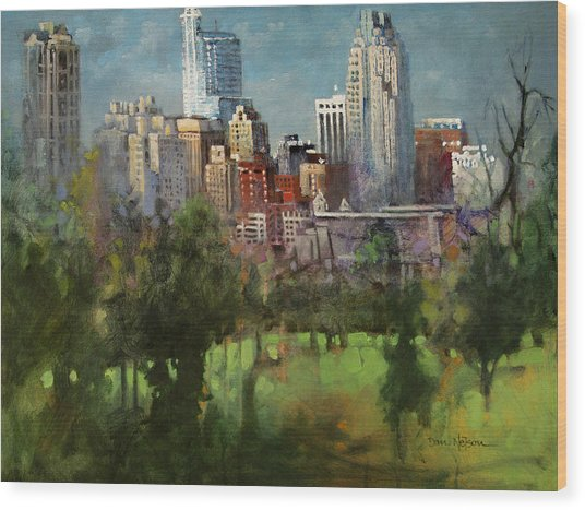 City Set On A Hill Wood Print