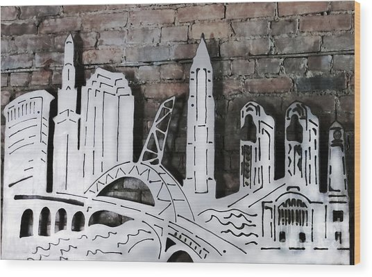 City Skyline Wood Print