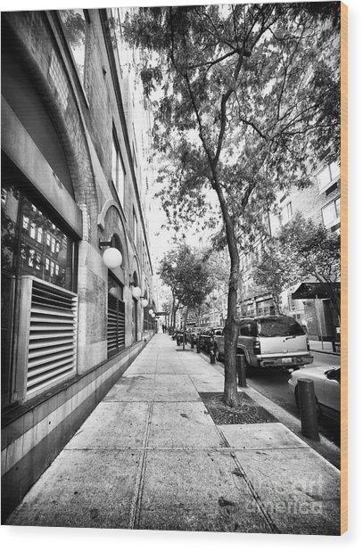 City Street Wood Print by John Rizzuto