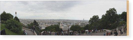 City Viewed From Sacre-coeur Basilica Wood Print